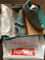 Nike X Supreme Blazer Low GT QS Cannon Gum Blue 716890 009 Men's Sz 9 FW16