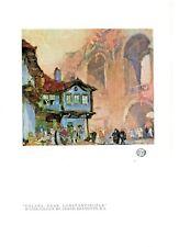 "Original 1923 Studio Lithograph ""Valens Near Constantinople"" by Frank Brangwyn"