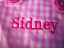 "EASTER BUNNY Plush Rabbit WITH PERSONALIZED DRESS NAME = SIDNEY 14.5""  NEW"