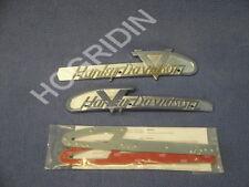 new 1955 Harley Davidson panhead FL & FLH gas tank emblems mounting kit