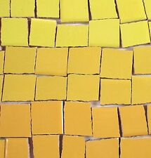 Ceramic Mosaic Tiles - Ombre Shades Of Yellow Mosaic Tile Pieces Blue Mosaic