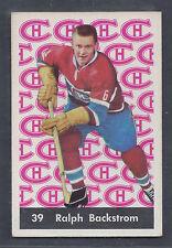 1961 Parkhurst #39 Ralph Backstrom Montreal Canadiens EX Plus to EX-MT