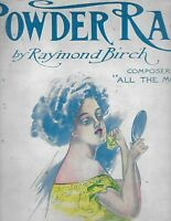 """POWDER RAG"" ANTIQUE SHEET MUSIC 1908  PIANO SOLO"