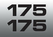 YAMAHA 1979 MX 175 MX175 SIDE COVER DECALS GRAPHICS PART # 3M2-21786-00-00