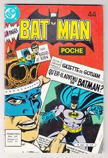 *** BATMAN Poche n° 44 *** 1982 - Sagedition DC // Q. NEUF