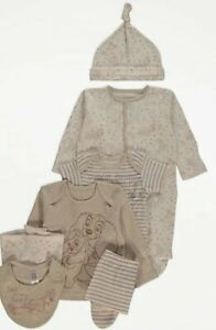BNWT Newborn First Size Unisex Outfit Disney Lady And The Tramp 7 piece gift