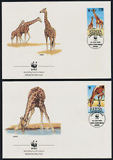 Kenya 491-4 on FDC's - WWF, Giraffes