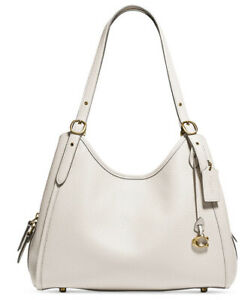 ❤️Coach Lori Brass/Chalk Mixed Leather Shoulder Bag