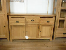 Vancouver Select Style Oak 3 Drawer 3 Door Sideboard SAL029 130cm