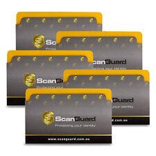 ScanGuard Top Opening RFID Blocking Sleeves - 5 Pack