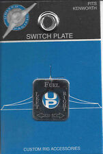 Switch plate fuel level stainless steel etched block letters for Kenworth toggle