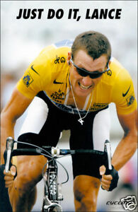 """LANCE ARMSTRONG """"JUST DO IT, LANCE"""" CYCLING POSTER"""