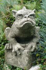SKULPTUR Drache Old Smug by Fiona Jane Scott Vidroflor STEINGUSS Antikgrau