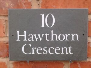 """Personalised Quality Slate House sign 12"""" x 8""""  ANY NAME / NUMBER!!"""