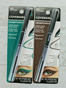 Covergirl Exhibitionist 24 Hour Kohl Eyeliner 2-Pack, Rich Brown Emerald Green