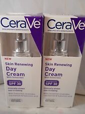 CERAVE Skin Renewing Day Cream SPF 30 1.76 oz each (2pk bundle) fresh & new