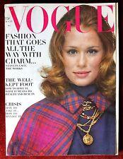 Vogue Magazine ~ August 15, 1968 ~ Lauren HuttonVeruschka Maud Adams Penn