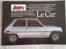 Renault 5 brochure Mar 1979 UK  market