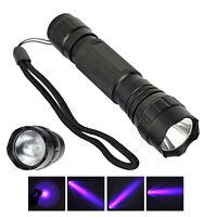 UV WF-501B LED 365NM Ultra Violet Blacklight Flashlight Torch 18650 Light Lamp