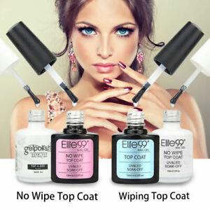 Elite99 No Wipe Top Coat Gel Nail Polish Matte Sealer Foundation Primer UV LED