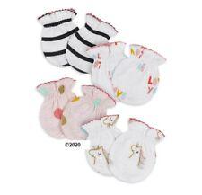 Gerber Baby Girl 4-Pack Organic Cotton Rainbow Unicorn Mittens Size 0-3M