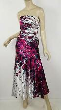 CACHE Gorgeous Floral Printed Satin Mermaid Fit & Flare Maxi Gown Dress 00 XXS