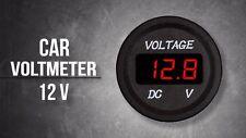 Voltage Meter Battery Gauge Red LED for Car Boat