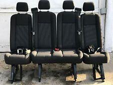 2015-2016 Ford Transit 15 Passenger Van Last Row Seats 4 passenger Black Cloth