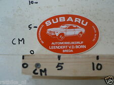 STICKER,DECAL SUBARU LEENDERT VD BORN BREDA AUTOMOBIELBEDRIJF