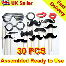 New 30pcs Photo Booth Props-Glasses Moustache on Stick Wedding Party Photography