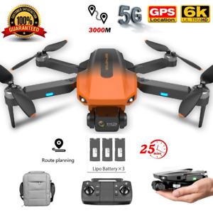 Quad air Drone RG101 GPS 6K HD Dual Camera 5G WIFI FPV Foldable RC Quadcopter+3B