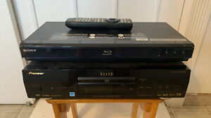 Pioneer Elite & SONY 3D Blu-ray DVD Player LOT OF 2 DV-59AVi w/ Remote BDPS350