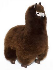 18 inches. Dark Brown Alpaca Plush. 100% Baby Alpaca Fur. Handmade.