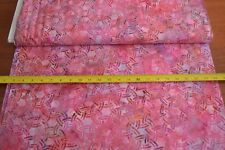By 1/2 Yd, Pink on Pink Hand-Painted Indonesia Batik, Hoffman/K-2472-497, B603