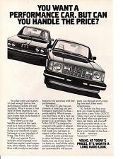 1979 VOLVO  ~  NICE ORIGINAL PRINT AD