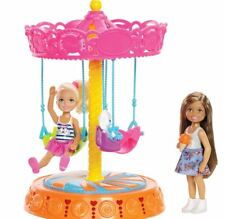 NEW Mattel Barbie Club Chelsea Carousel Swing Deluxe Set with 2 Dolls