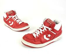 3c1316ce3b92 Converse Weapon Vintage Retro Basketball Shoes Red White Leather Men s Size  11