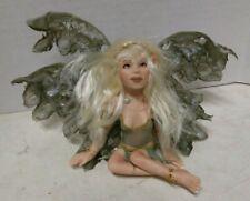 RENEE HARRIS OOAK Fairy Figurine Figure Doll HANDMADE BUTTERFLY WINGS PEARL