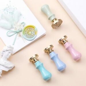 1Pc Wood Handle Wax Seal Stamp Decorative Gifts Post grip Just Color Macaron