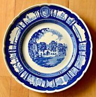 "Wedgwood Cornell University 10 1/2"" creamware plate The Balch Halls 1933"