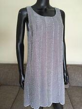 MAX & MOI designer, Grey Beaded Dress, Gatsby Style, UK size 12/ Euro 38