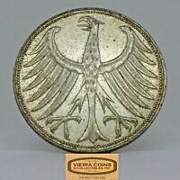 1965-G Germany Silver 5 Mark, Free Shipping -  #C19796NQ