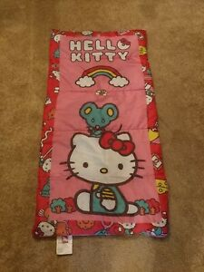 "Hello Kitty Sleeping Bag 28""x 56"" Sanrio 2015"