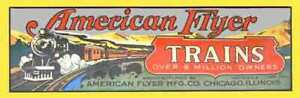 SET BOX LABEL ADHESIVE STICKER Form 7700 for American Flyer Mfg. Co.Trains