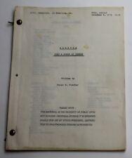 Baretta * 1974 Original TV Show Script * Season 1, Episode 2 The 5½ Pound Junkie