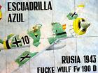 FUCKE WULF 190 D - GERMANS IN RUSSIA WW 2 + FOOD TICKETS BACK -ORIGINAL SCARCE