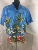 royal Creations Mens Hawaiian Shirt SizeXL Made in Hawaii vintage station wagons