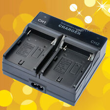 Dual Channel Digital Battery Charger for Sony NP-F960 NP-F970 NP-F970/B  NP-F720