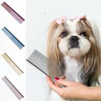 Pet Dog Cat Metal Double Row Teeth Grooming Hair Comb Brush Fur Rake Tool uk