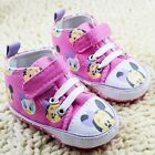 Baby Girl Minnie Mouse Print Pink Disney Boots Shoes Pre Walkers